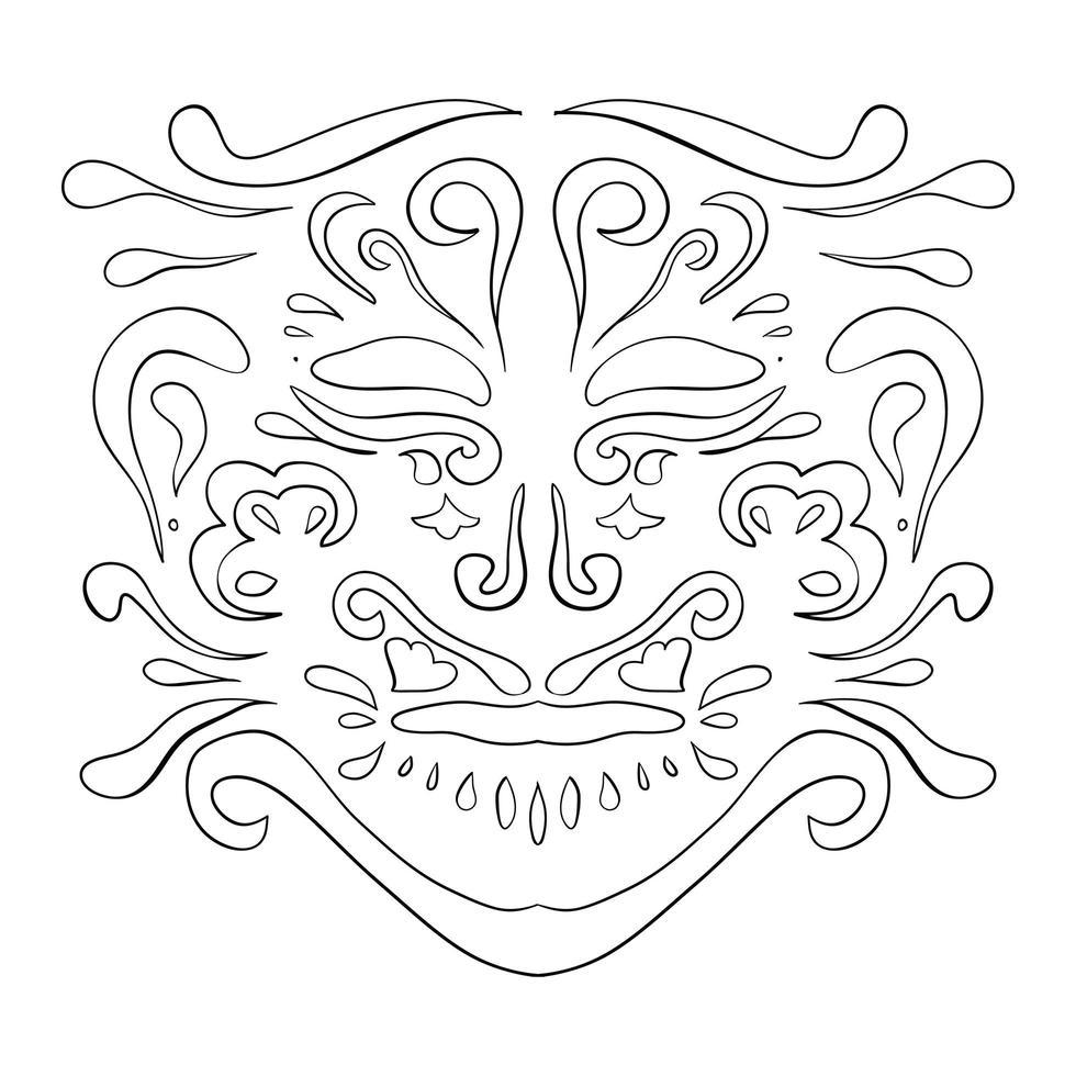 padrão étnico. ornamento de beleza no estilo boho. vetor