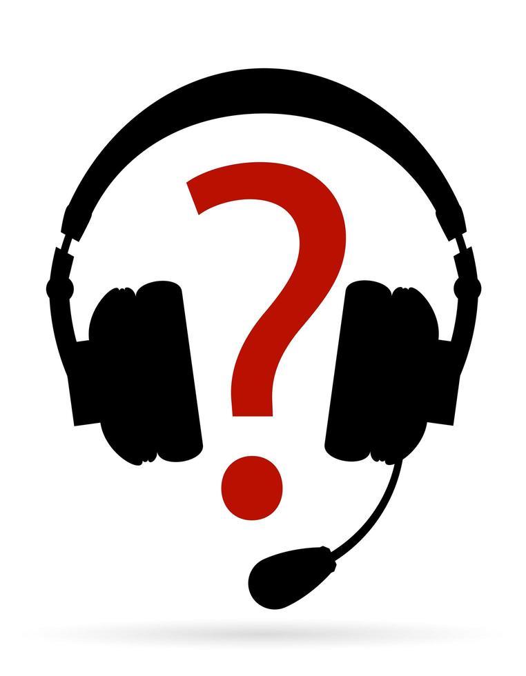 fones de ouvido com suporte para microfone vetor