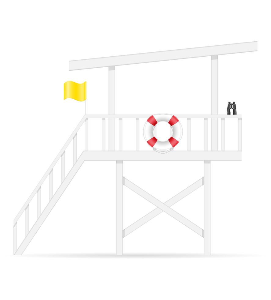 torre de salva-vidas de praia vetor