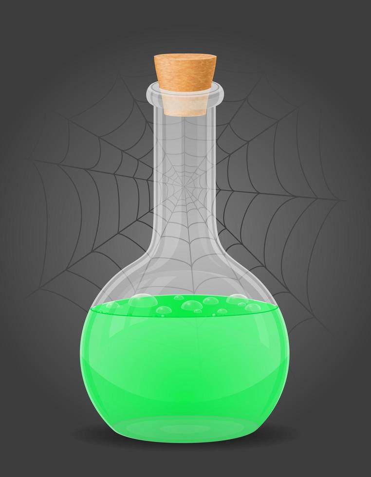 frasco com poção mágica vetor