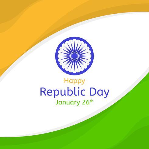 Fundo de vetor Flat Republic Day