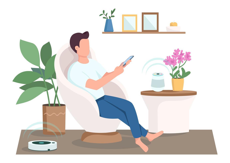cara na sala de estar moderna vetor