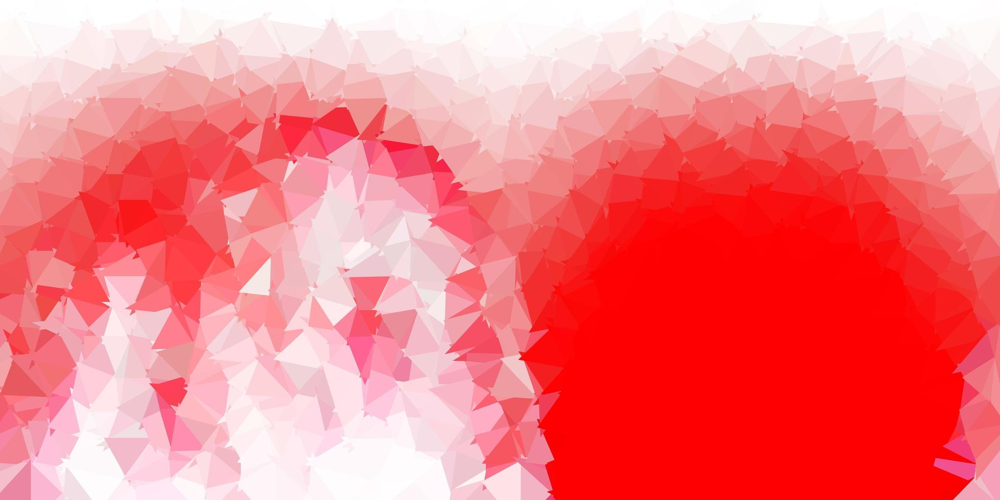 design de mosaico triângulo vermelho claro. vetor
