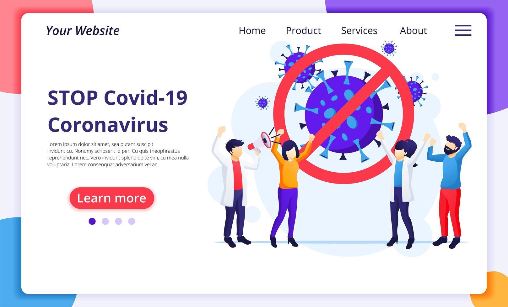 pessoas lutando contra o vírus covid-19 vetor