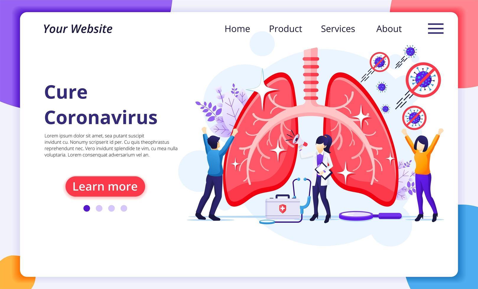 pessoas curando o vírus covid-19 vetor