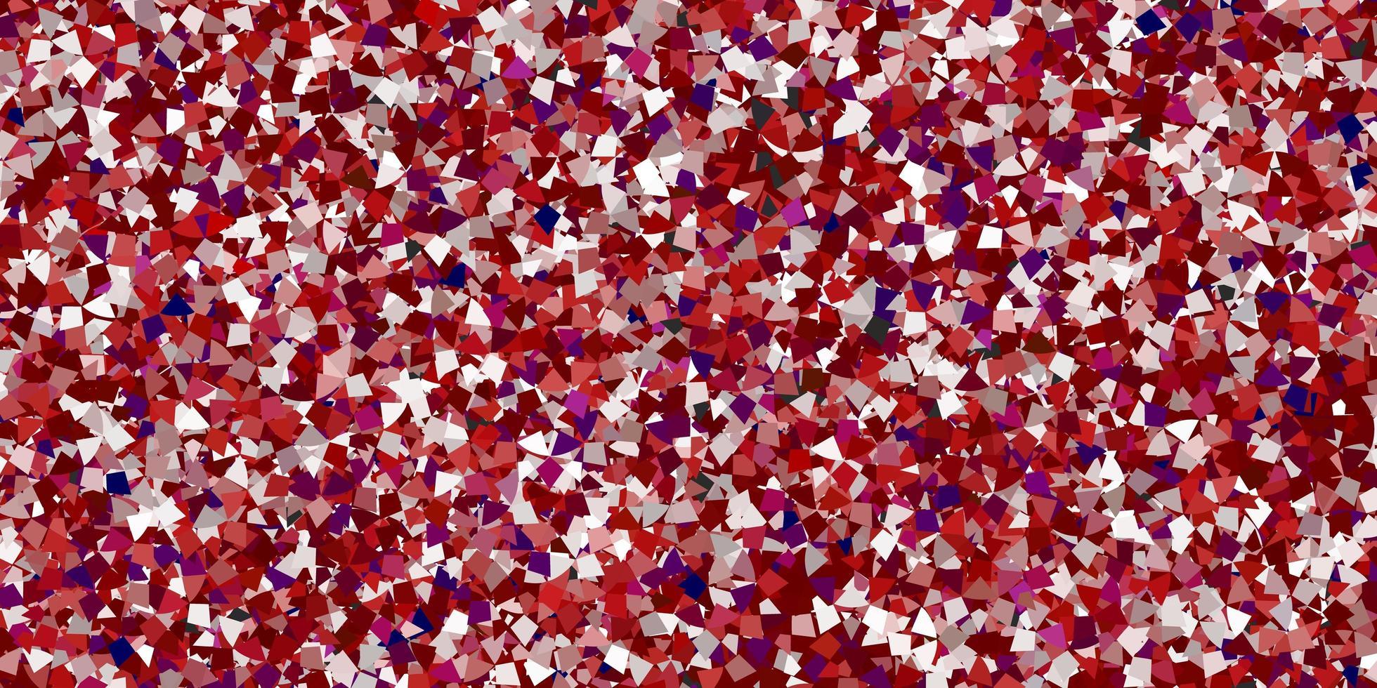 textura vermelha com estilo triangular. vetor