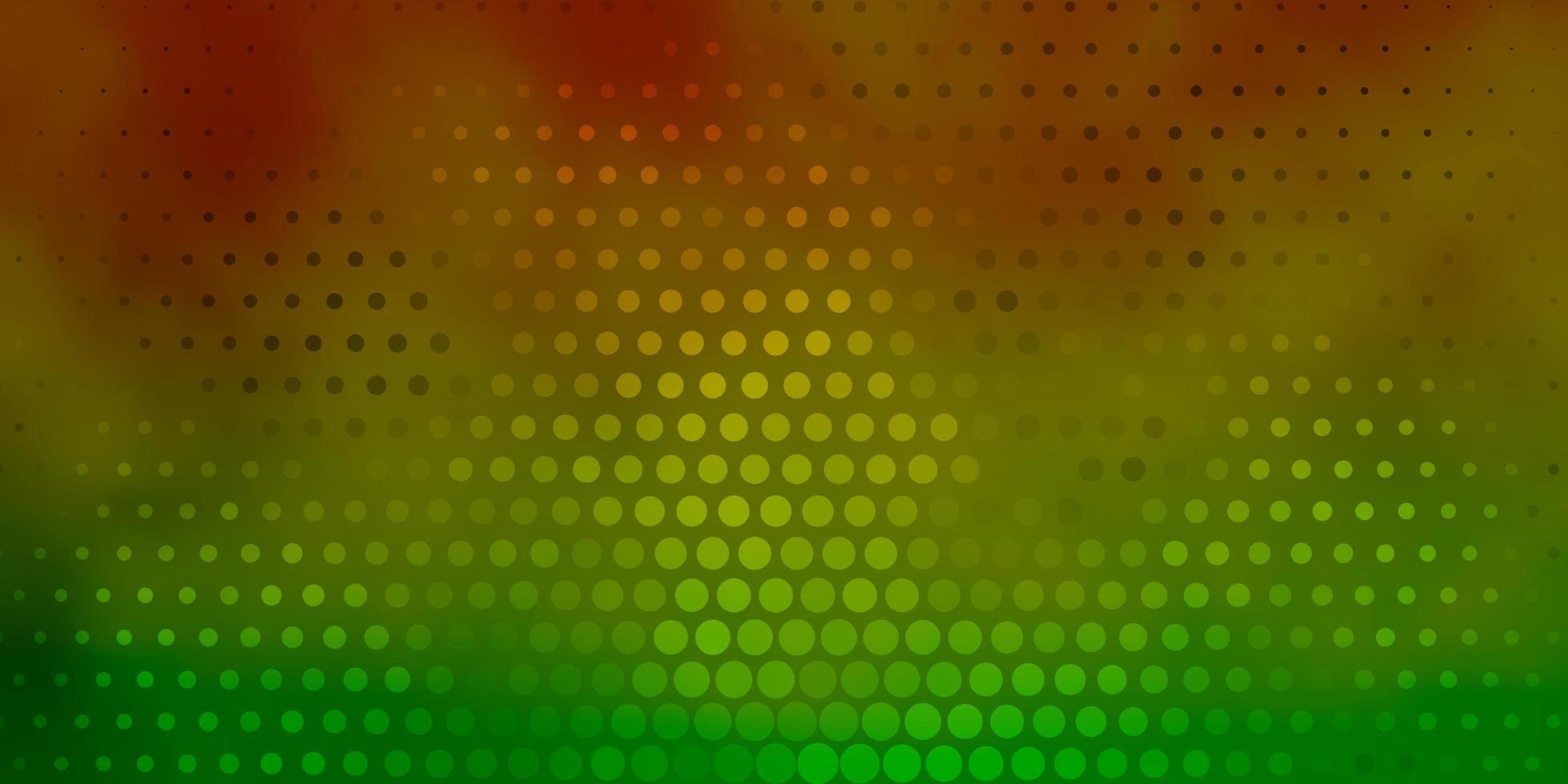 pano de fundo verde e amarelo claro com pontos. vetor