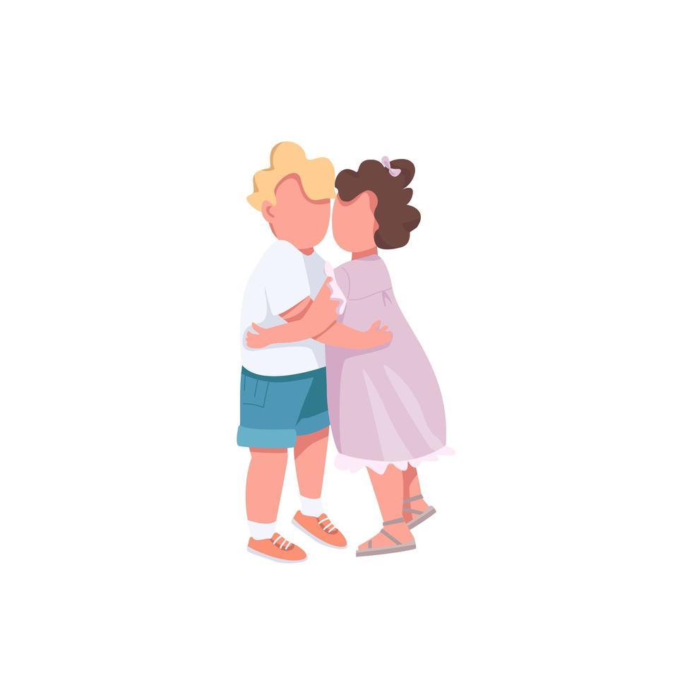 irmão e irmã se abraçando vetor