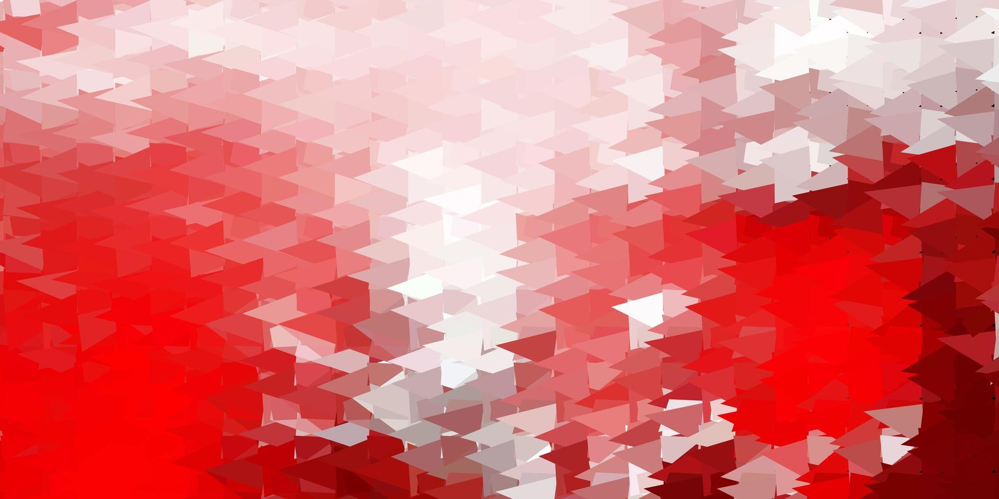 modelo de triângulo vermelho escuro poli. vetor