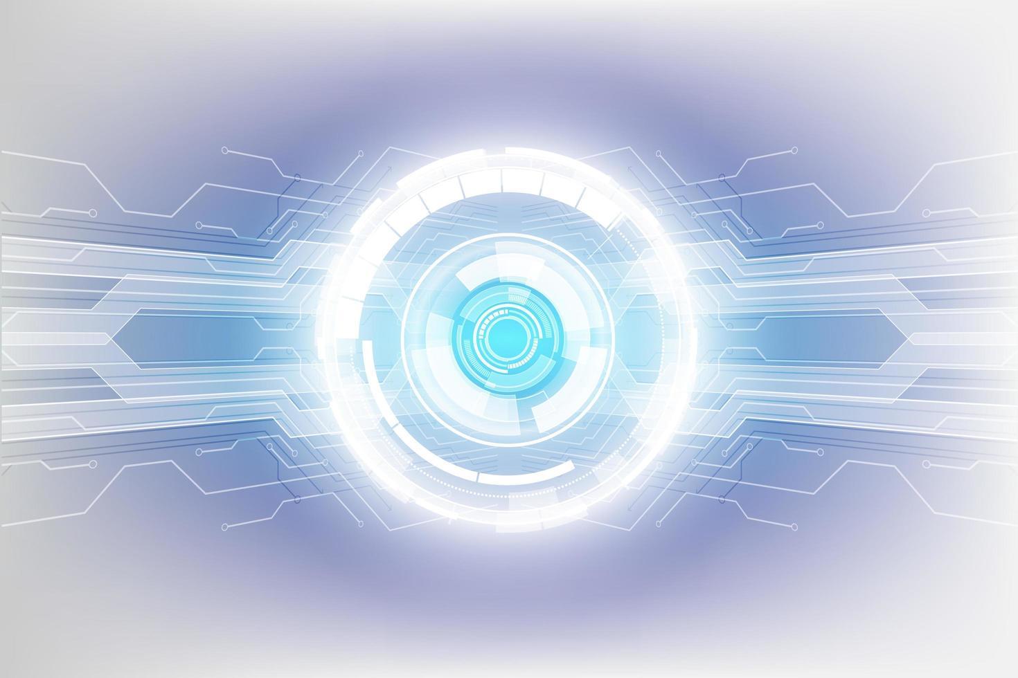 fundo abstrato do conceito de tecnologia, ilustração vetorial vetor