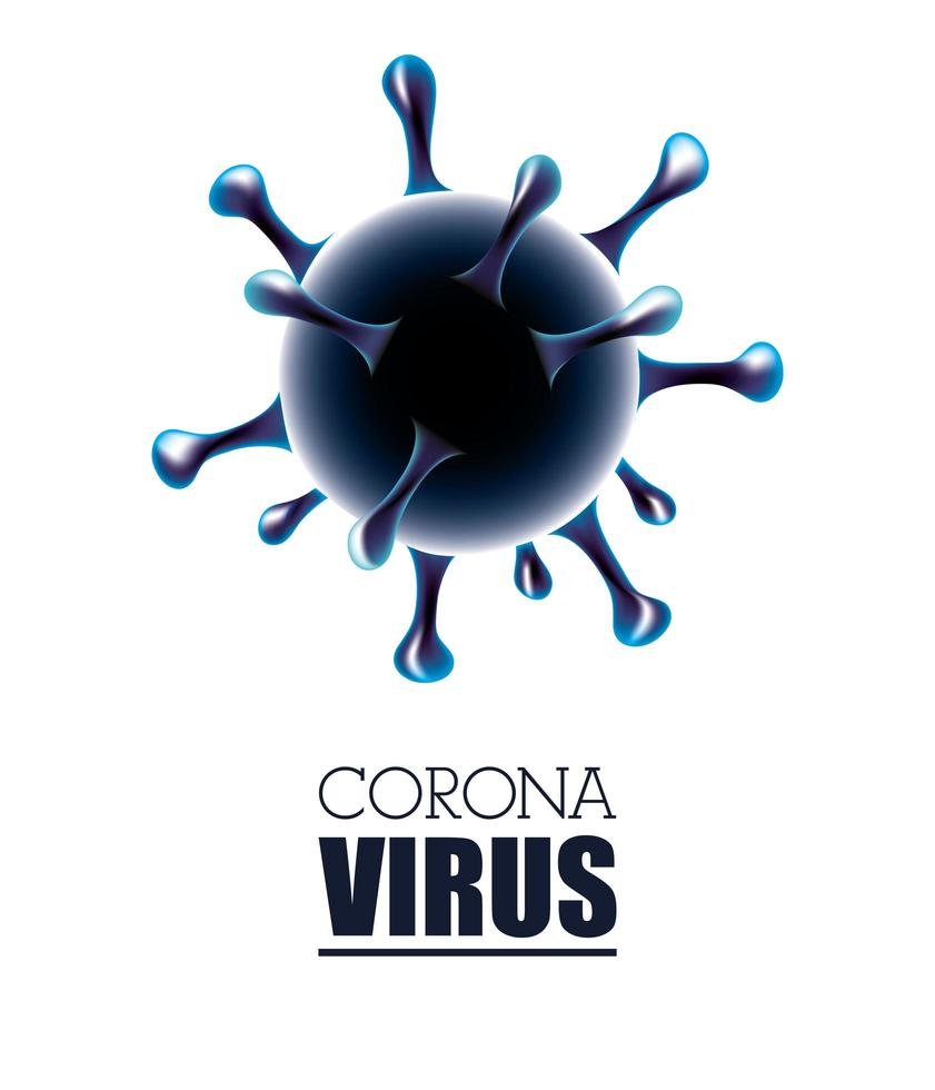 fundo de bandeira branca científica de coronavírus vetor