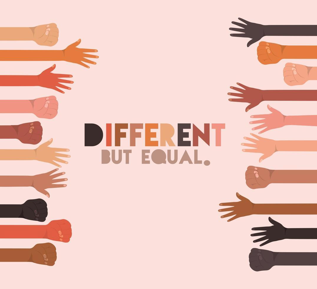 design de skins diferente, mas igual e com diversidade vetor