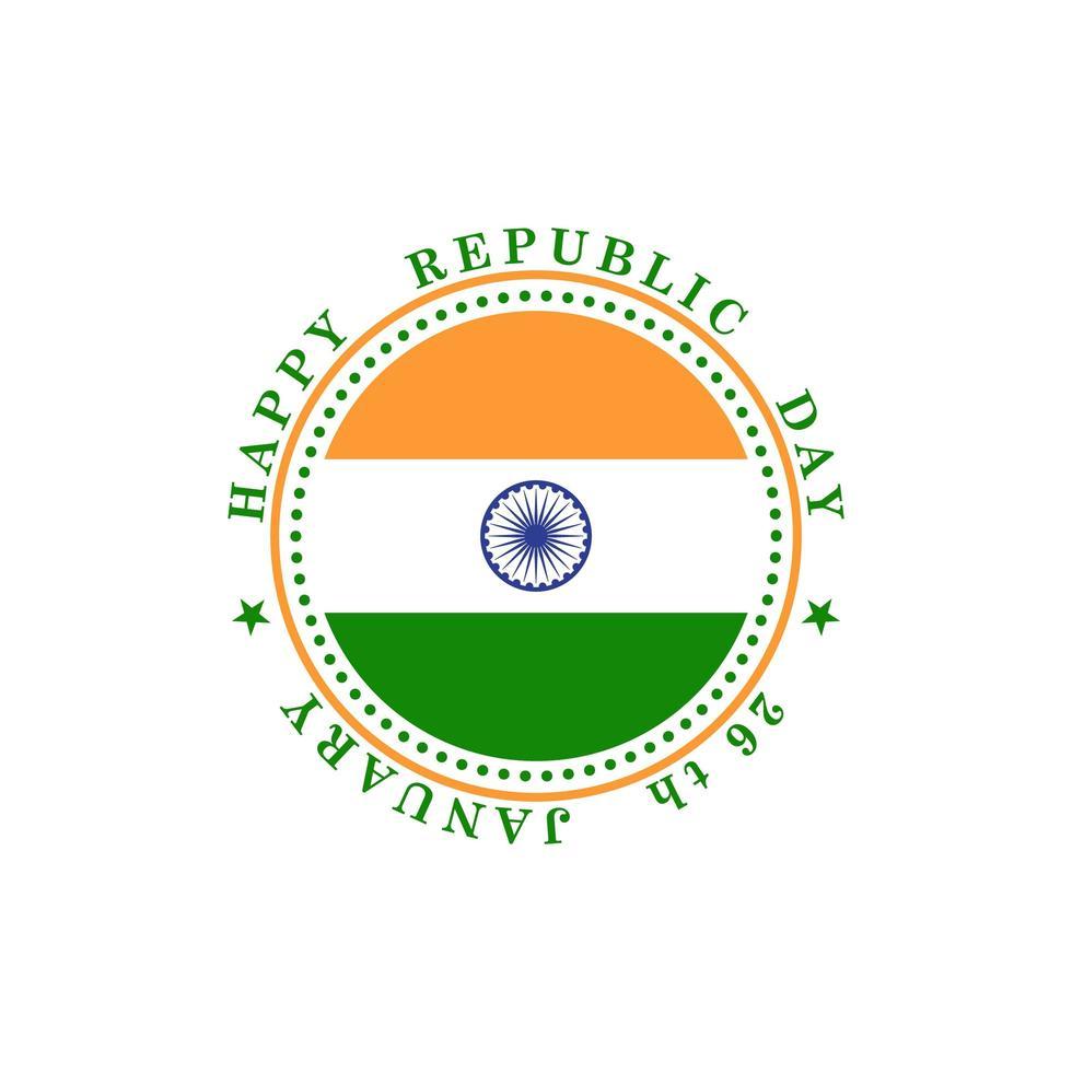 banner de saudação com a bandeira nacional indiana em círculo vetor