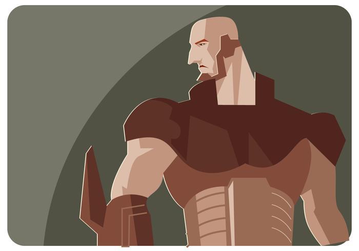 Vetor Super Hero do metal