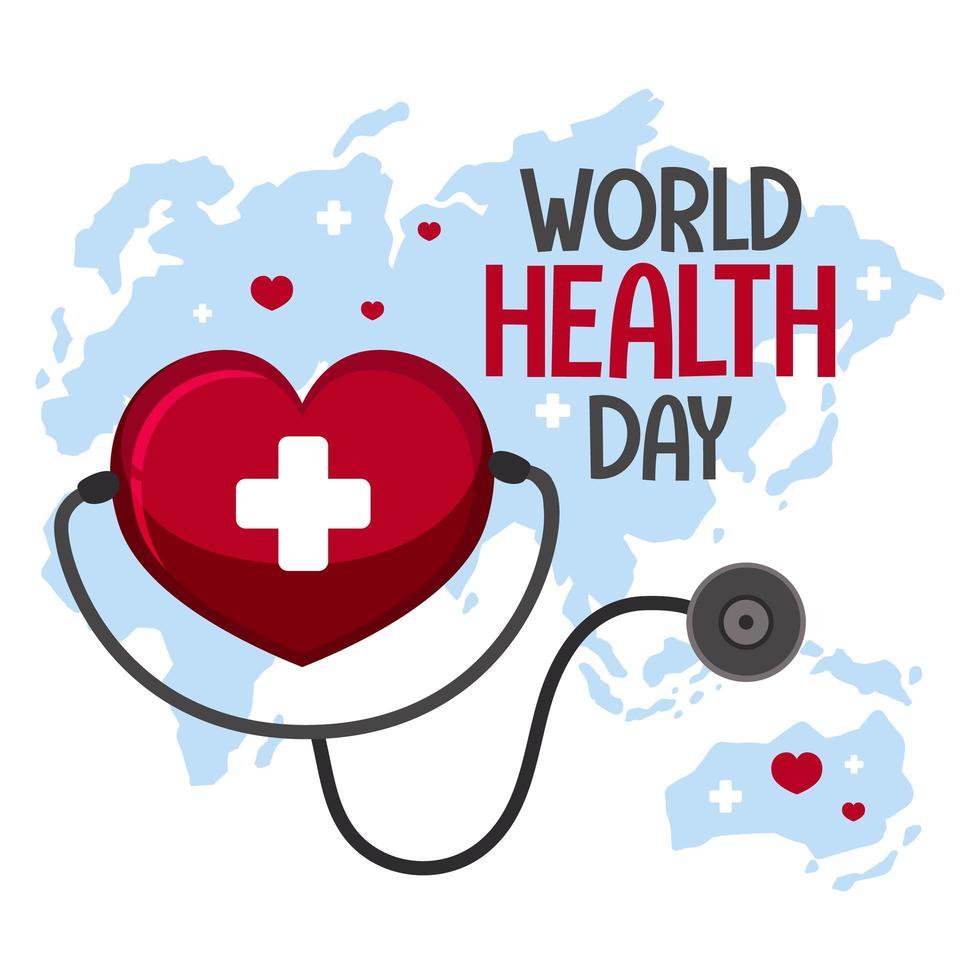 logotipo do dia mundial da saúde vetor