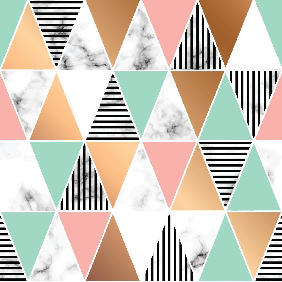 design de textura de mármore com formas geométricas vetor