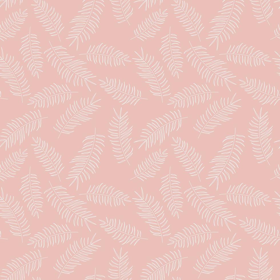 padrão sem emenda com folhas tropicais brancas vetor