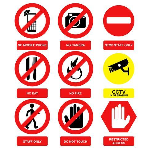 Vetor de sinal de aviso