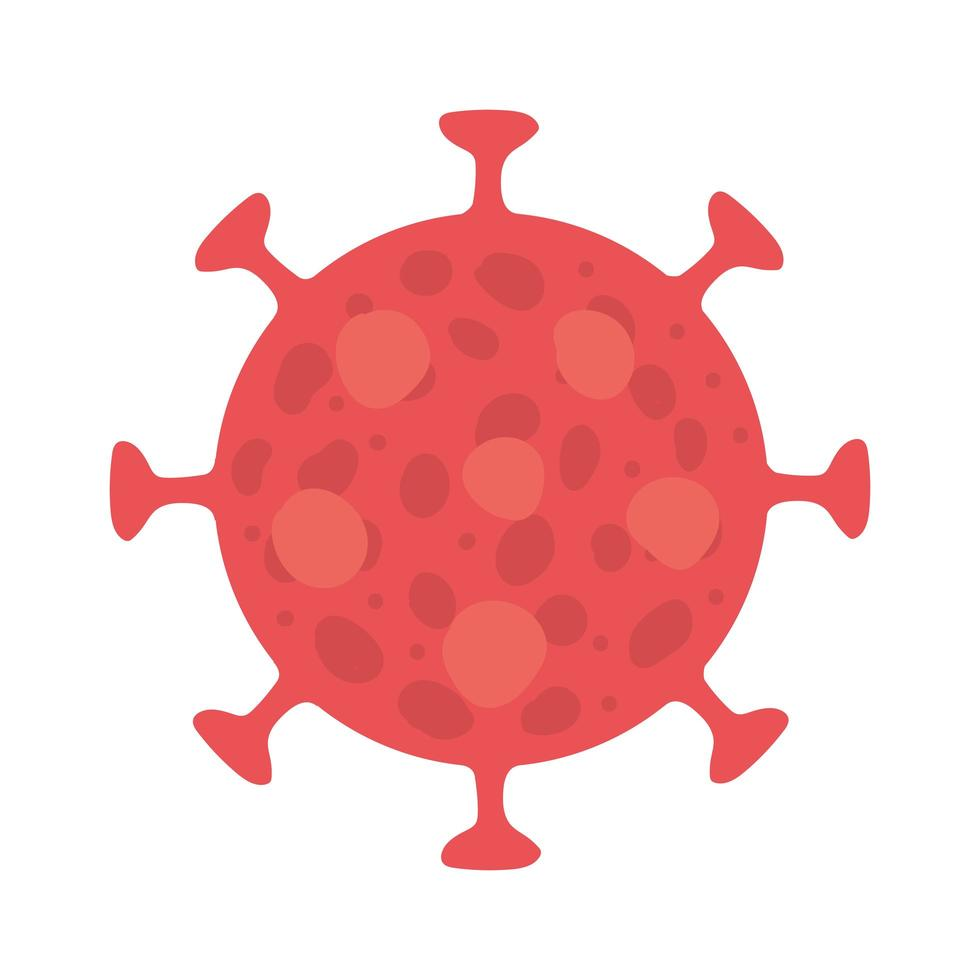 projeto de vetor de vírus covid 19 isolado