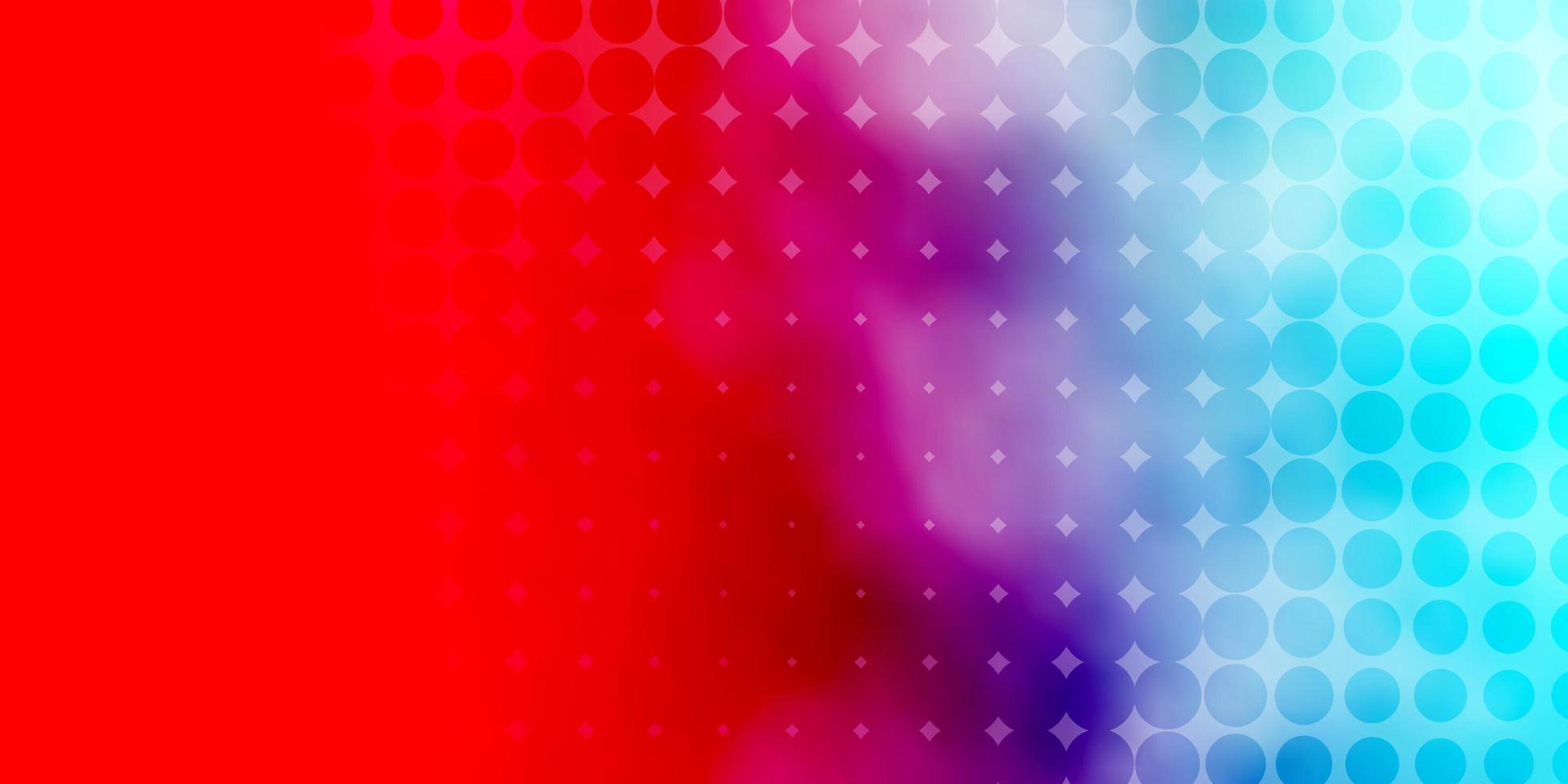 padrão azul claro, vermelho com círculos. vetor