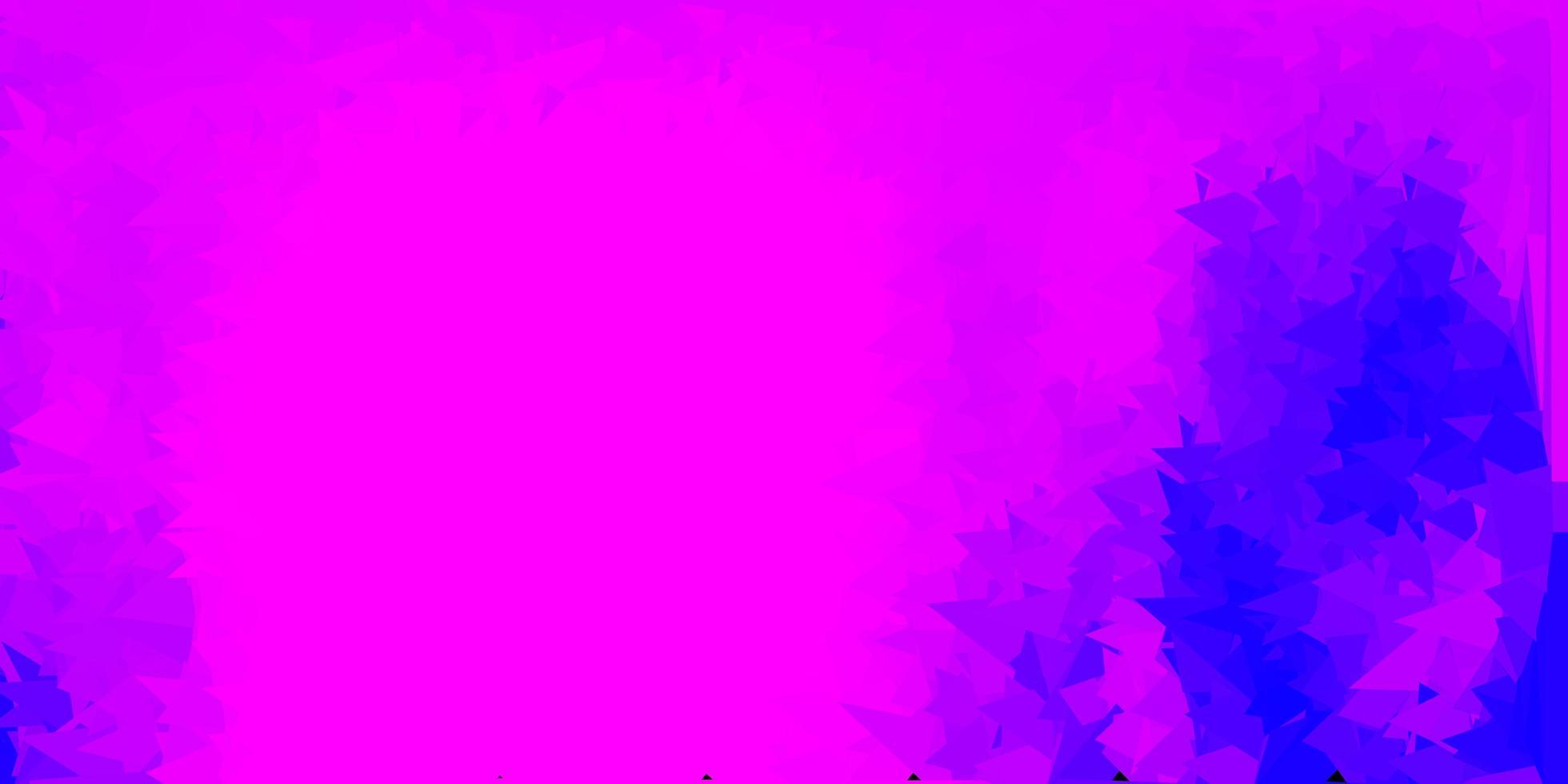 modelo de mosaico triângulo rosa e roxo claro. vetor