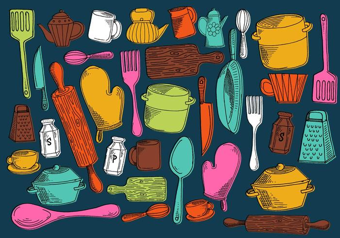 Vetores de utensílios de cozinha