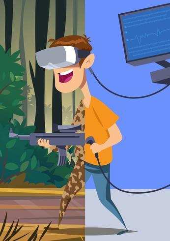 Experiência de realidade virtual vetor