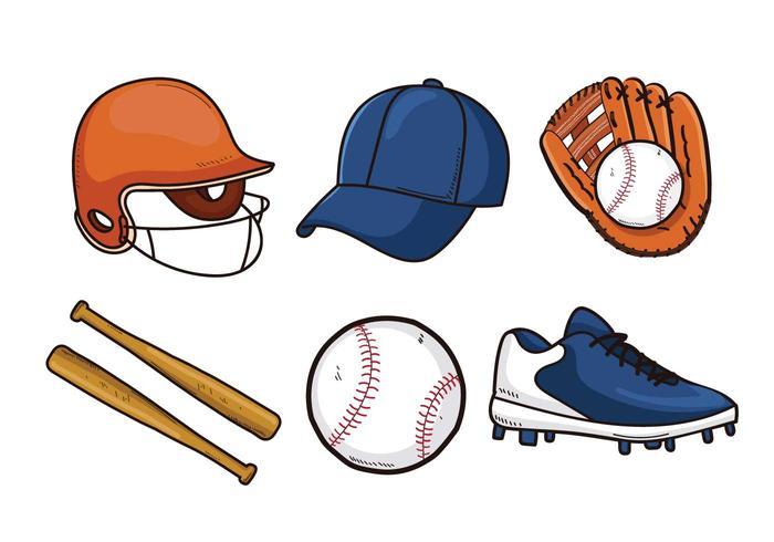 Vetores do elemento de softball