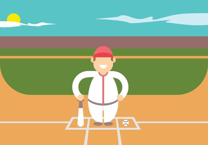 Jogadores de softball vetor