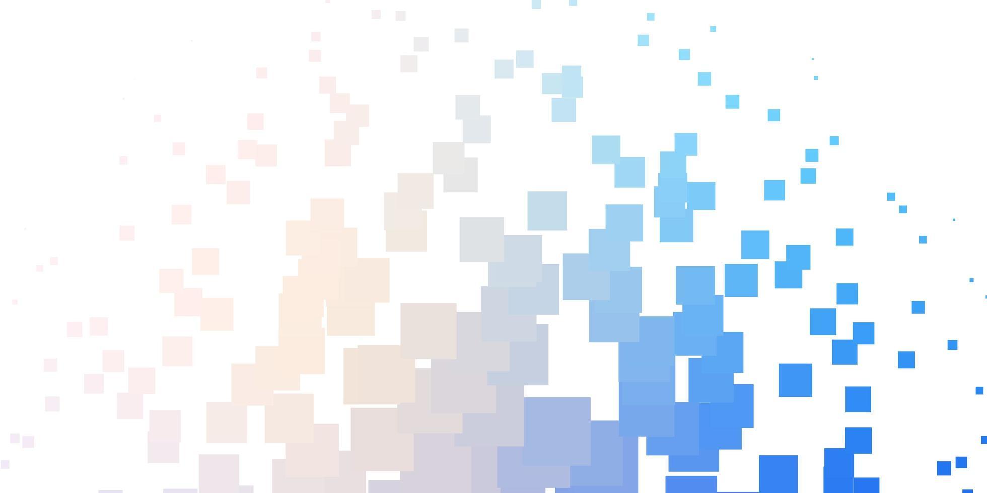 layout de vetor rosa claro, azul com linhas, retângulos.