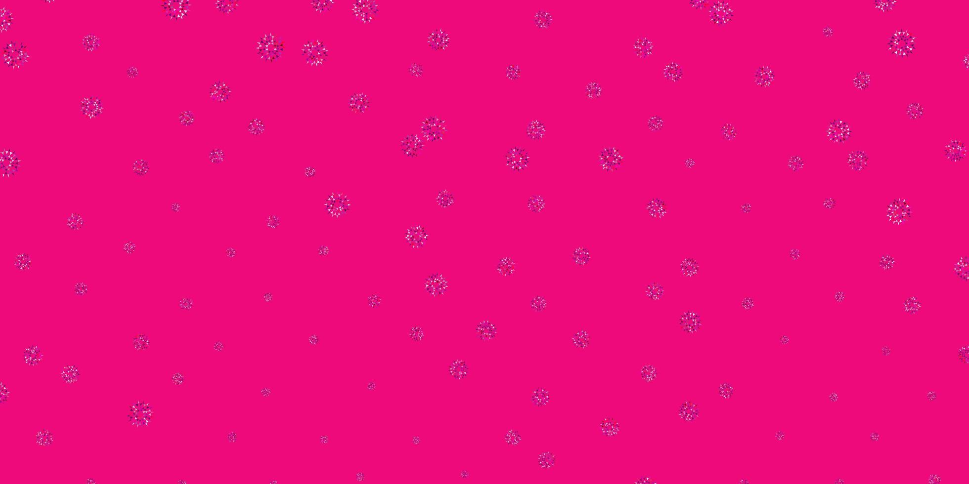 pano de fundo natural do vetor rosa claro roxo com flores