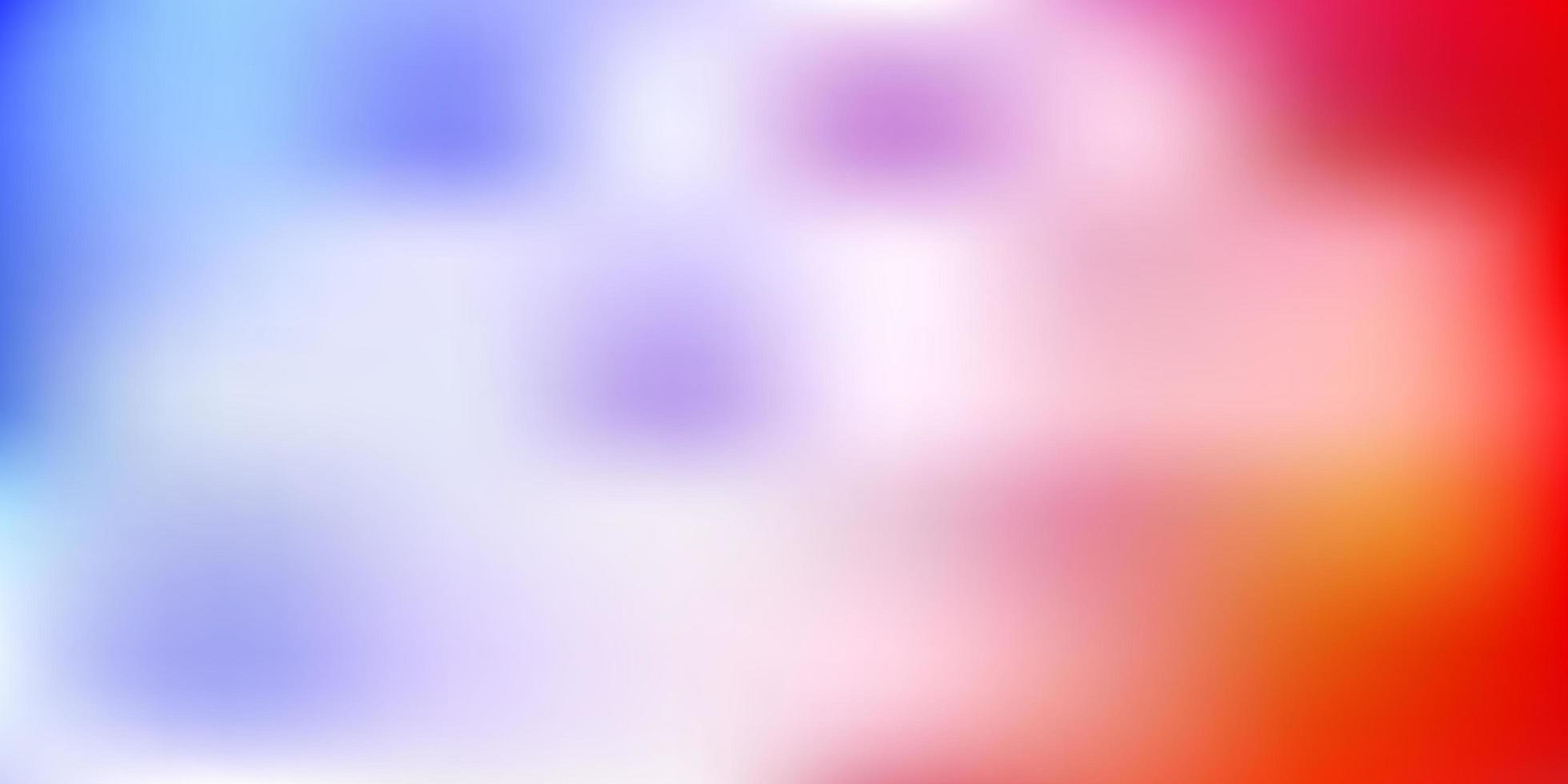 padrão de desfoque de vetor azul claro e vermelho