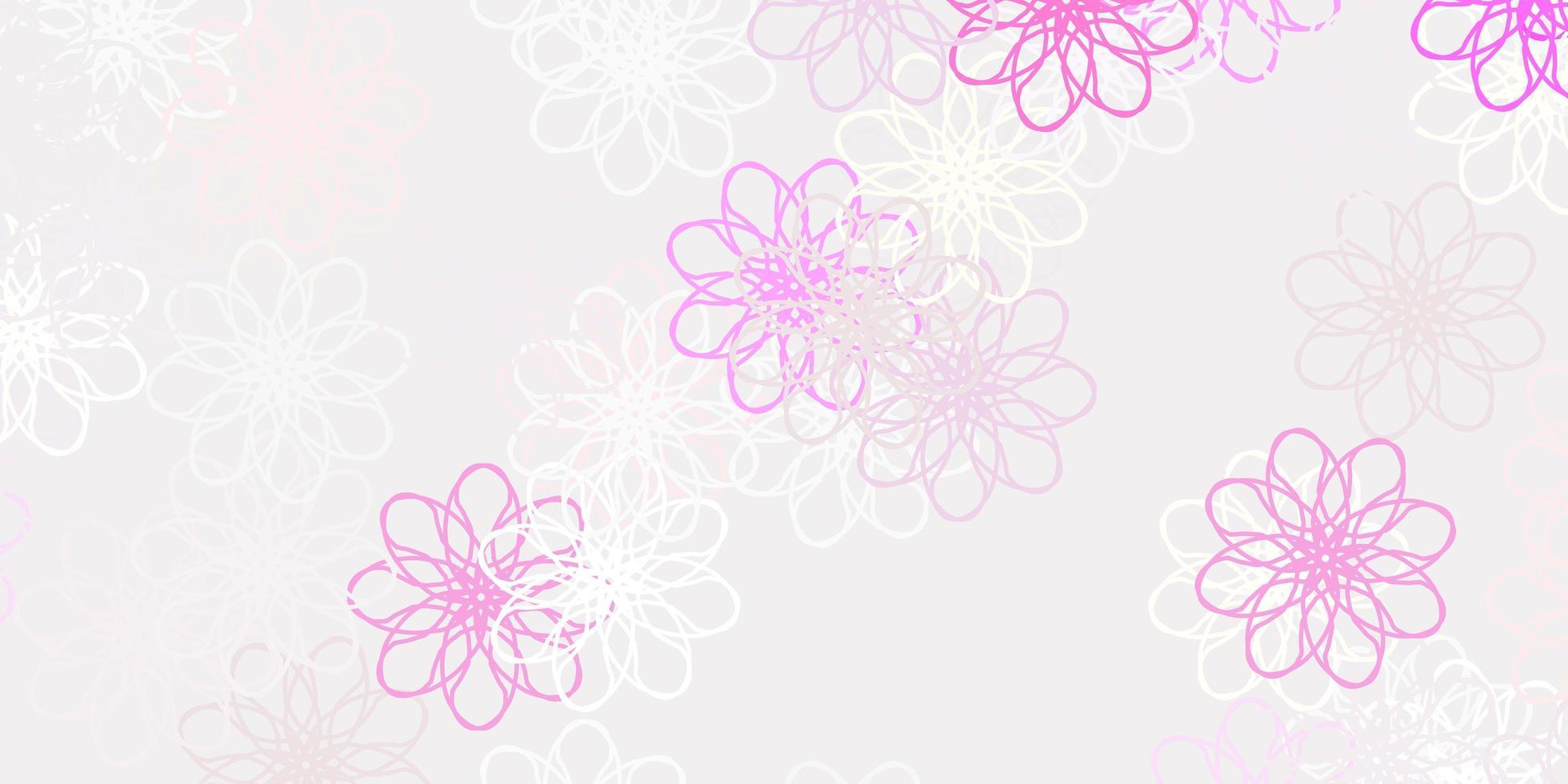 arte natural do vetor rosa claro com flores.