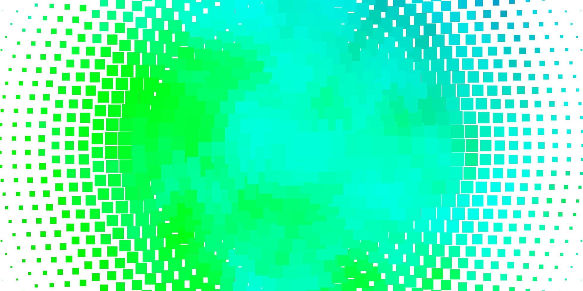 pano de fundo vector azul e verde claro com retângulos.