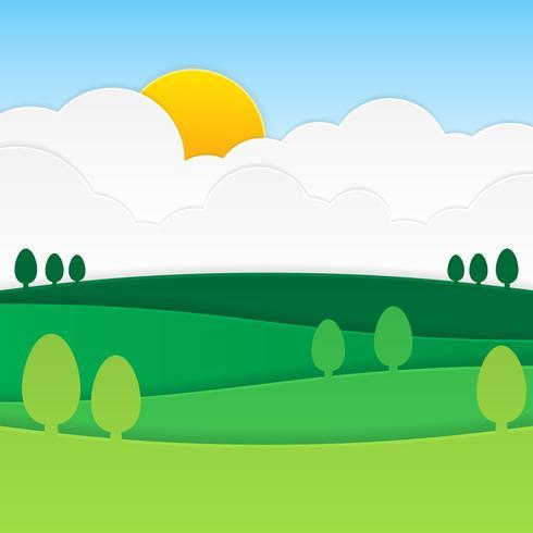 papel pintado paisagem paisagem natural vetor