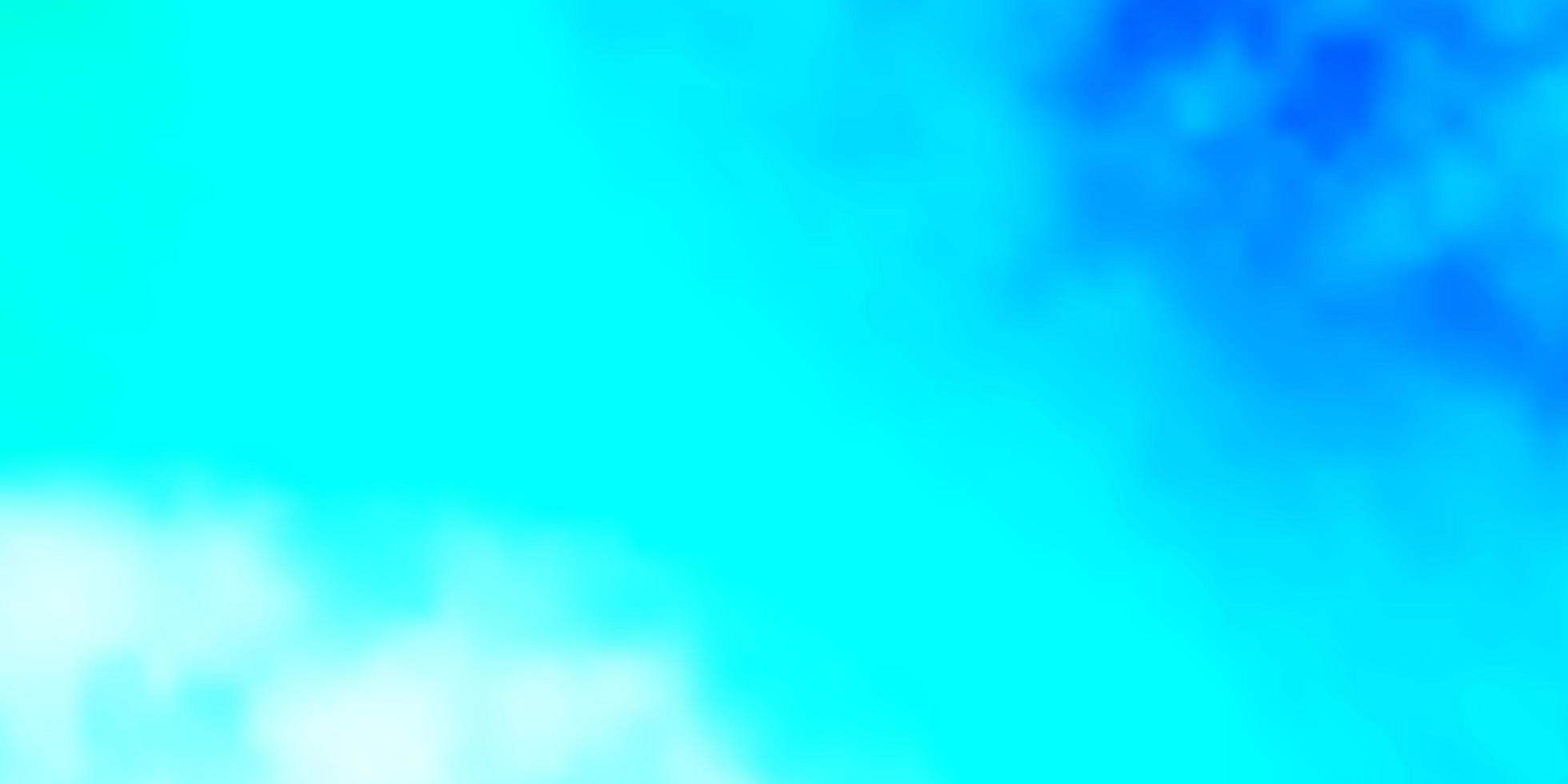 layout de vetor de azul claro e verde com cloudscape.