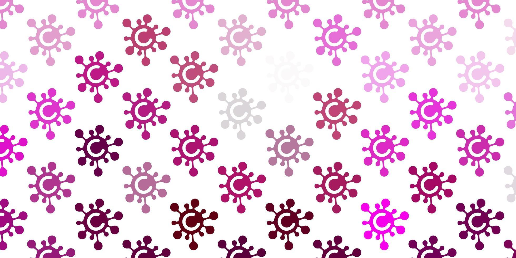 textura vector rosa claro com símbolos de doença.
