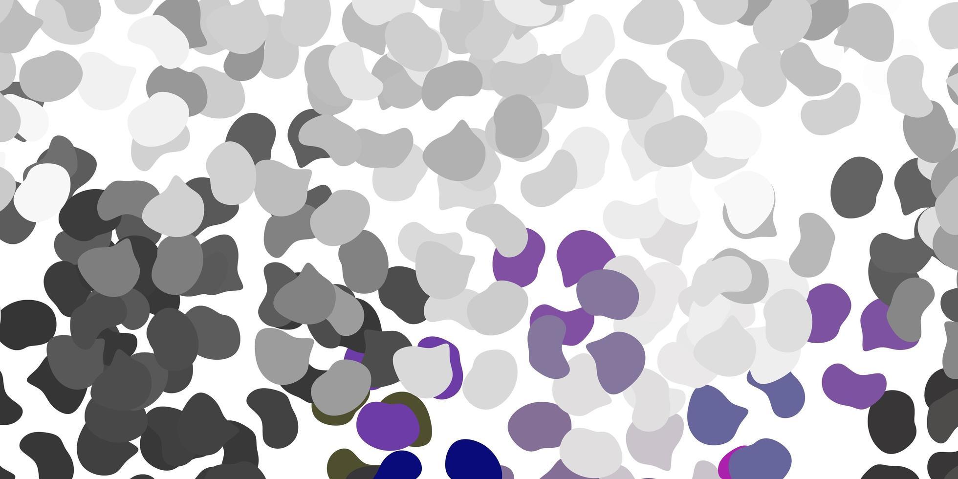 textura vetorial cinza claro com formas de memphis vetor