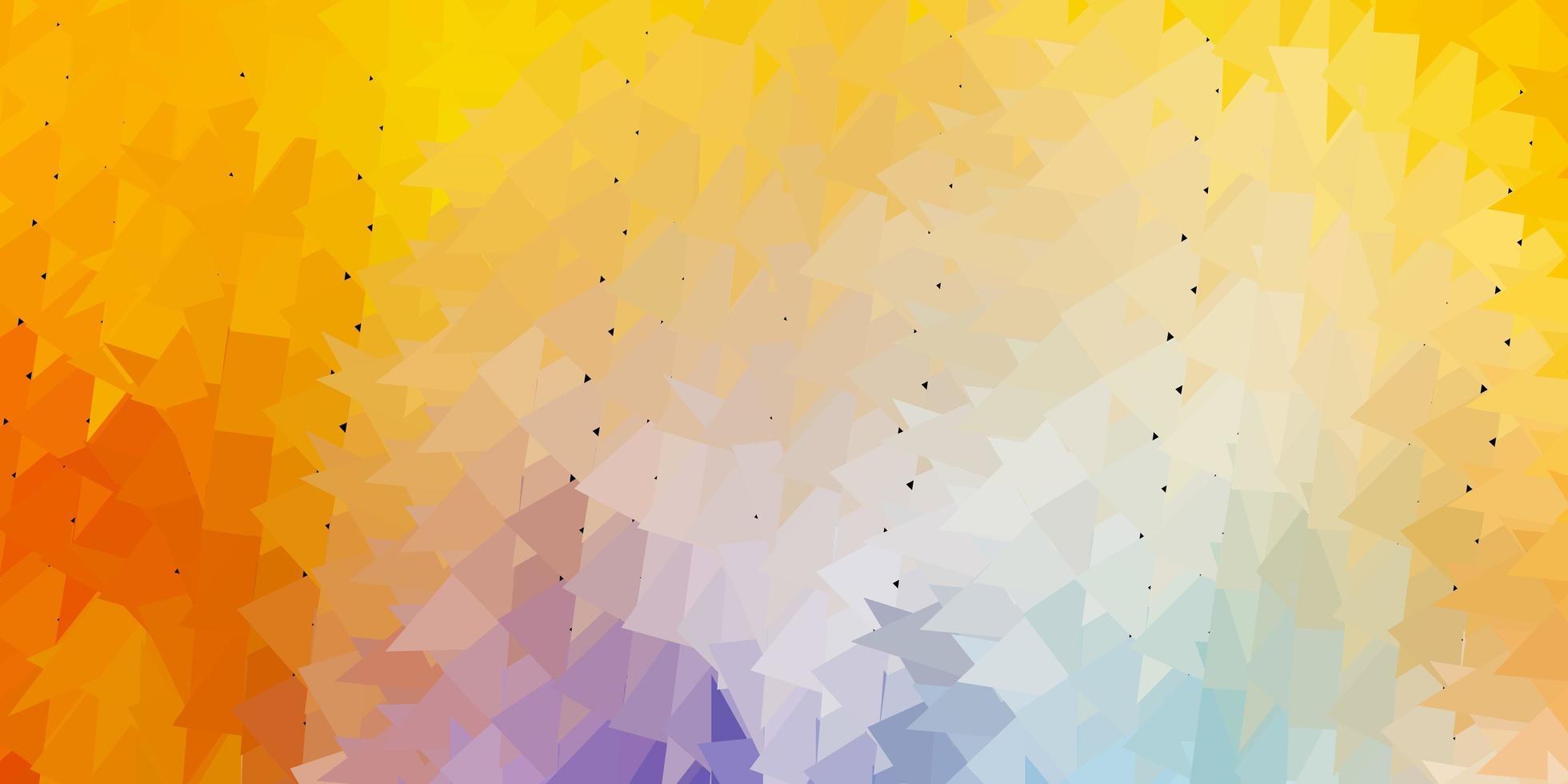 fundo do triângulo abstrato do vetor azul claro, amarelo.