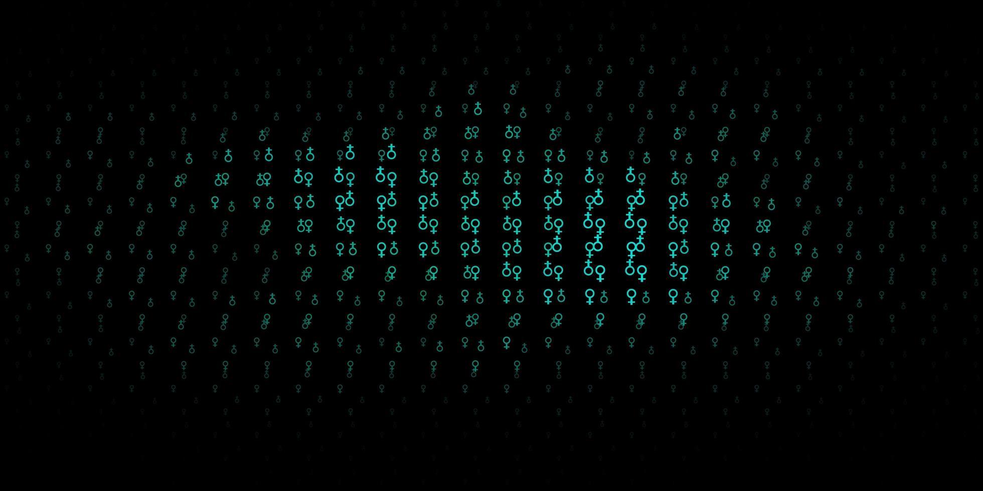 textura vector verde escuro com símbolos de religião.