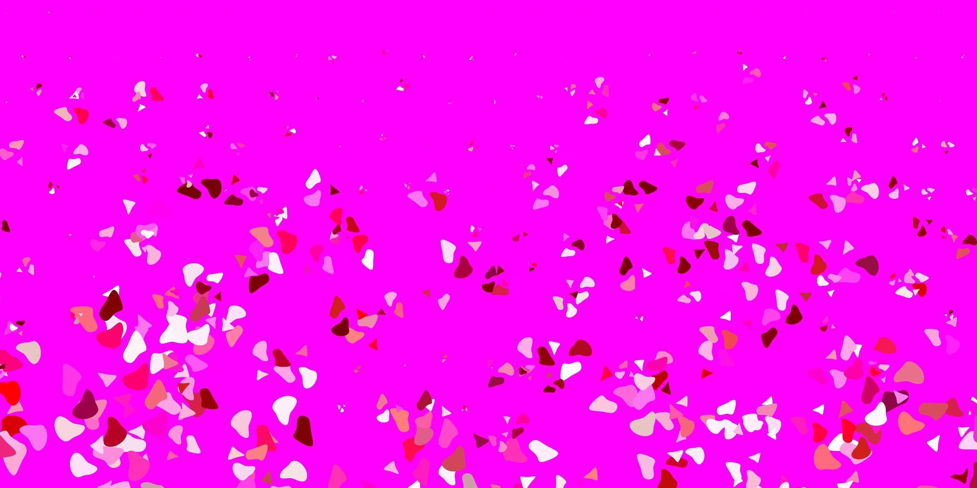 padrão de vetor rosa claro com formas abstratas.