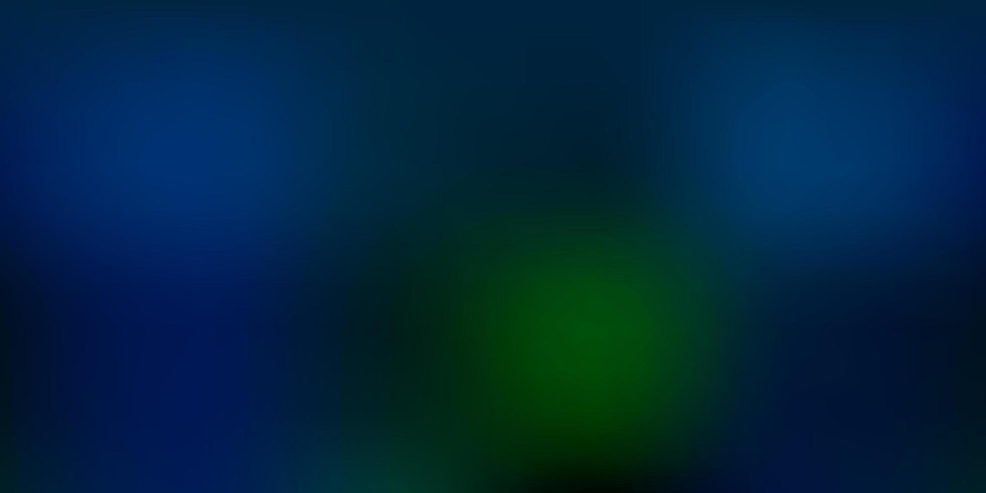 textura de desfoque abstrato de vetor azul escuro e verde.