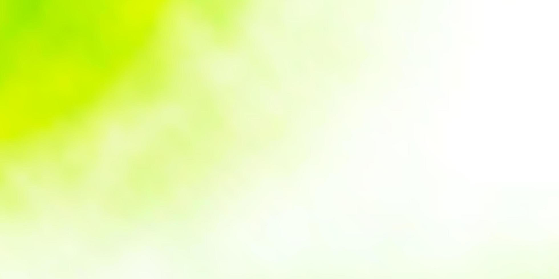textura de vetor verde e amarelo claro com céu nublado.