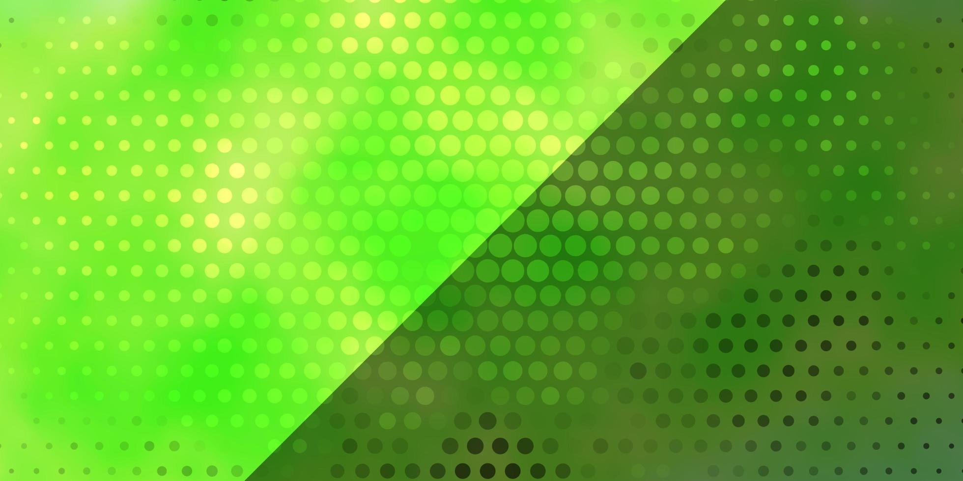 modelo de vetor verde claro com círculos.