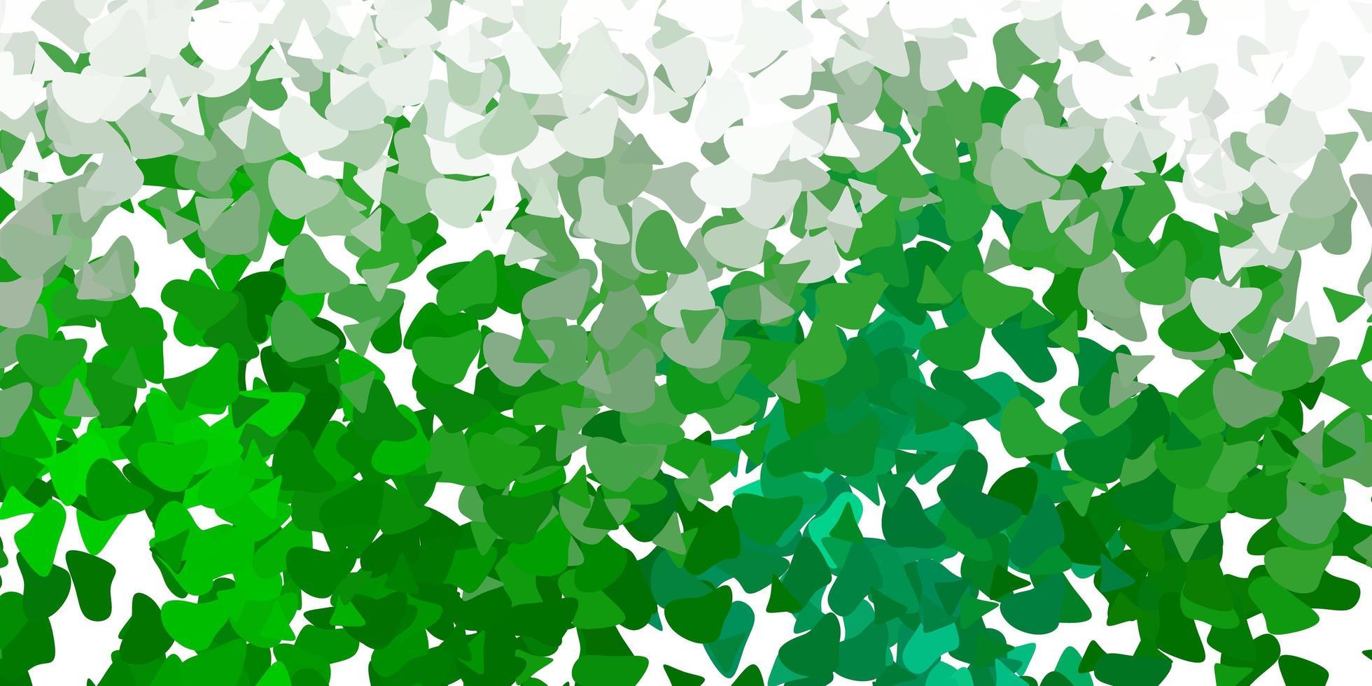 pano de fundo de vetor verde claro com formas caóticas