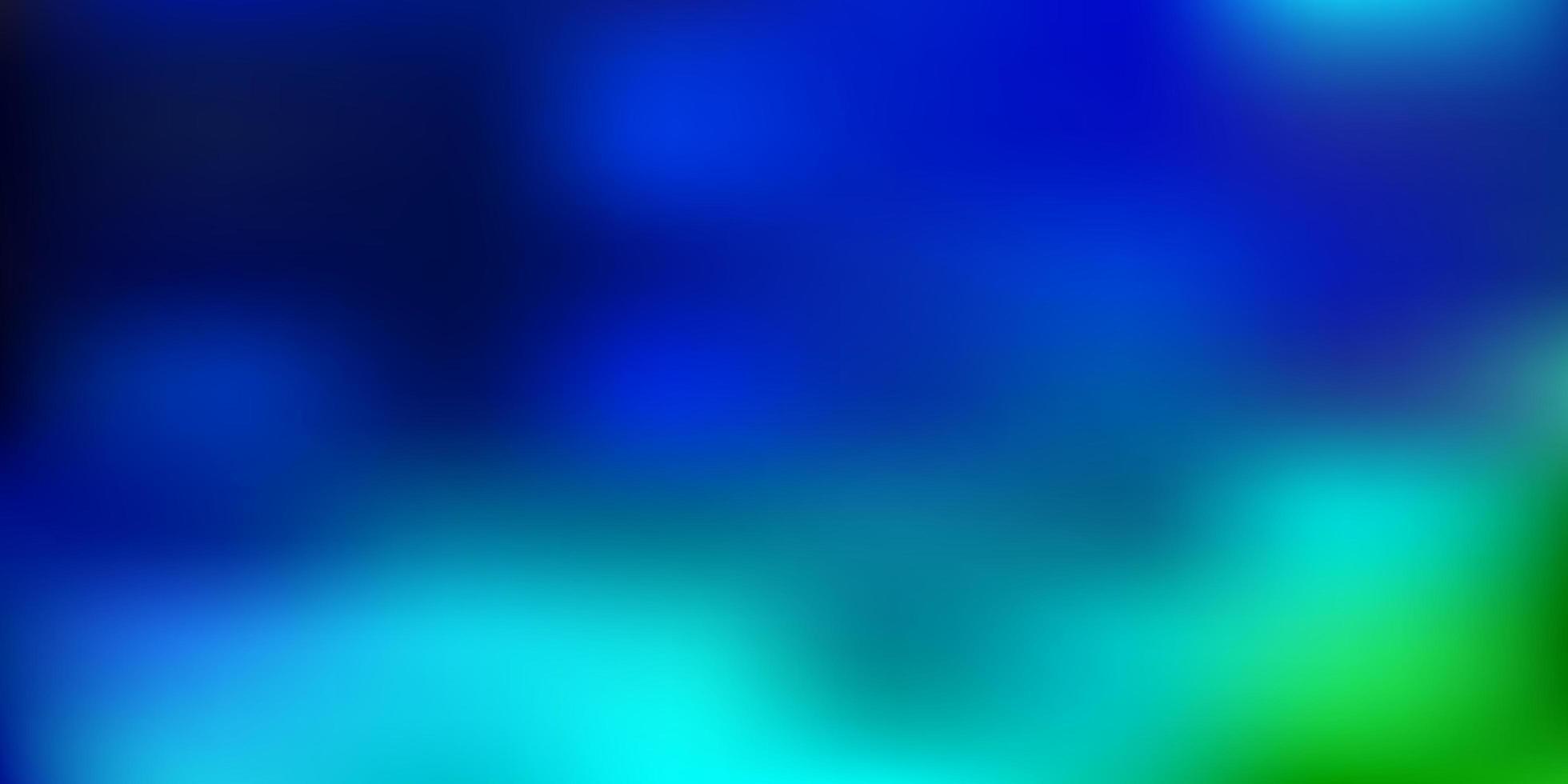 modelo de desfoque gradiente de vetor azul claro e verde.