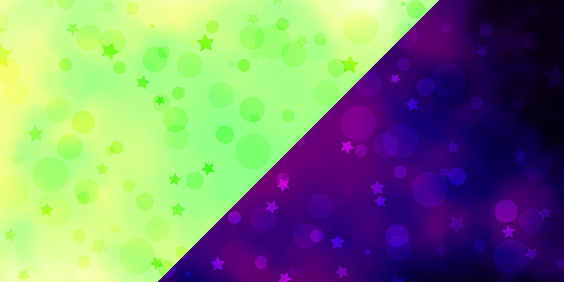 pano de fundo do vetor com círculos, estrelas.