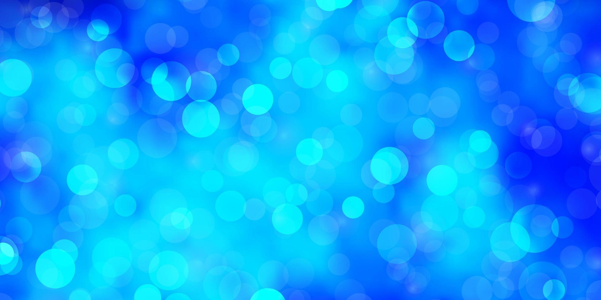 fundo azul claro do vetor com círculos.