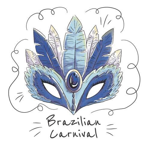 Linda máscara de carnaval brasileiro vetor