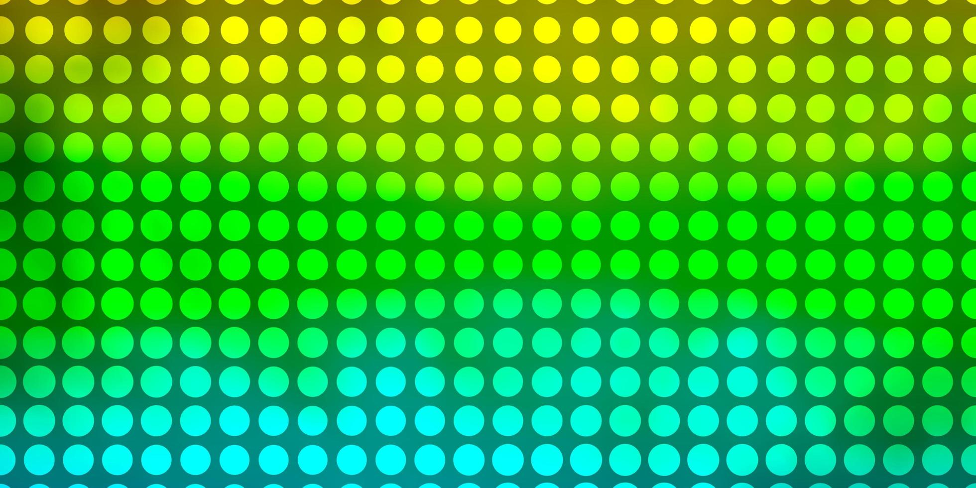 pano de fundo vector azul e amarelo claro com círculos.